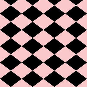 Small Harlequin Check in Pink