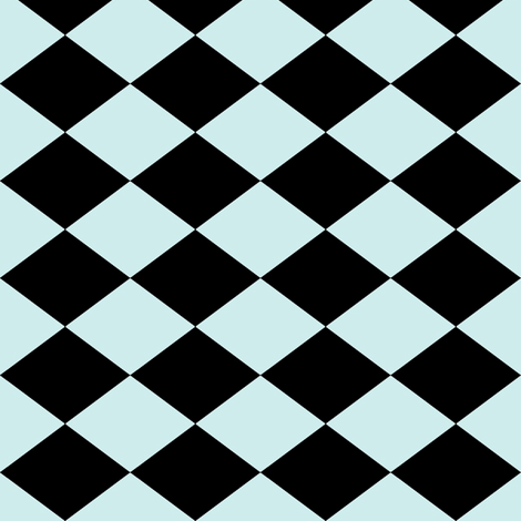 Small Harlequin Check in Mint fabric by charmcitycurios on Spoonflower - custom fabric