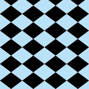 Small Harlequin Check in Light Blue