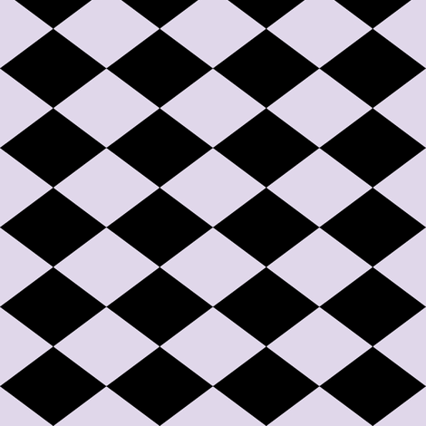 Small Harlequin Check in Lilac fabric by charmcitycurios on Spoonflower - custom fabric