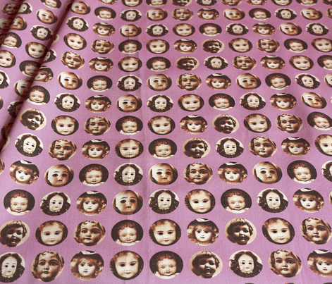 Doll Face - Sepia on Purple