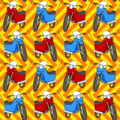 motorbike 1g fabric by sef on Spoonflower - custom fabric