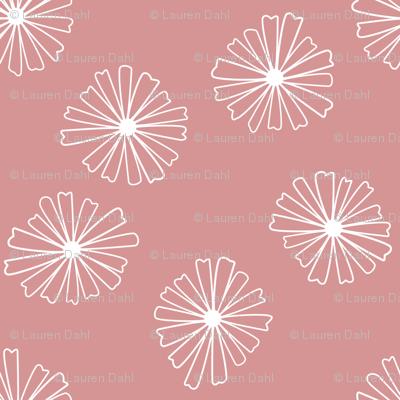 Pink Pyrex Daisies