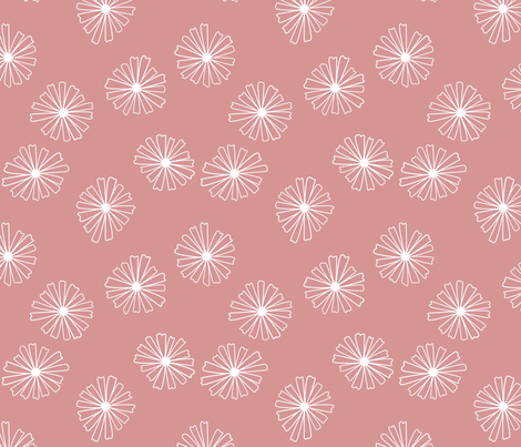 Pink Pyrex Daisies fabric by laurendahl on Spoonflower - custom fabric