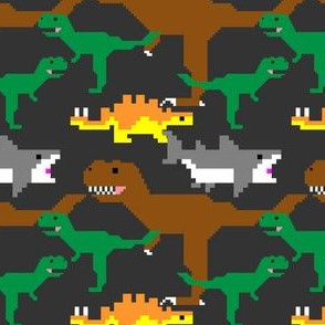 Pixel Dinos (and Sharks!)
