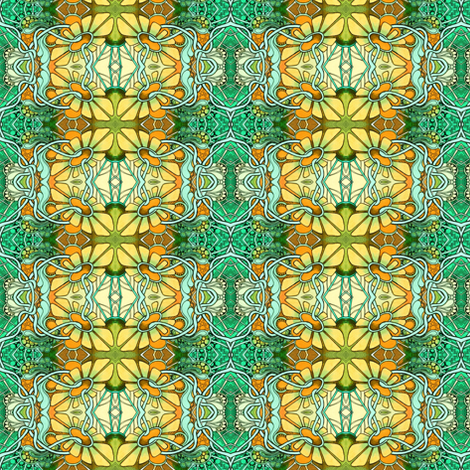 What Alice Saw fabric by edsel2084 on Spoonflower - custom fabric