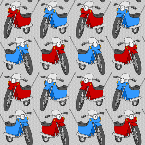 motorbikes 1g fabric by sef on Spoonflower - custom fabric