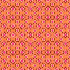 Tangerine Magenta Mulberry White Mosaic
