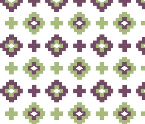 geometric navajo fabric by blueclouds on Spoonflower - custom fabric