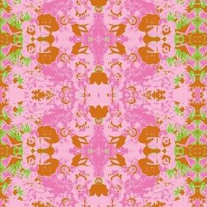 Blossom Pink Rust Green