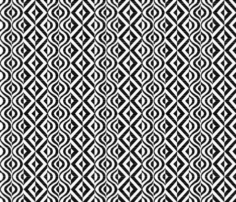 Geometric Groove in Black fabric by kfay on Spoonflower - custom fabric