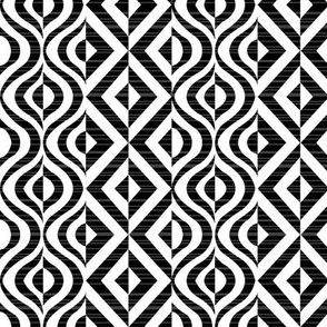 Geometric Groove in Black