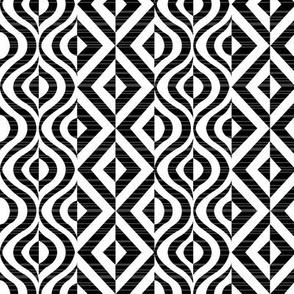 Geometric Groove in Black