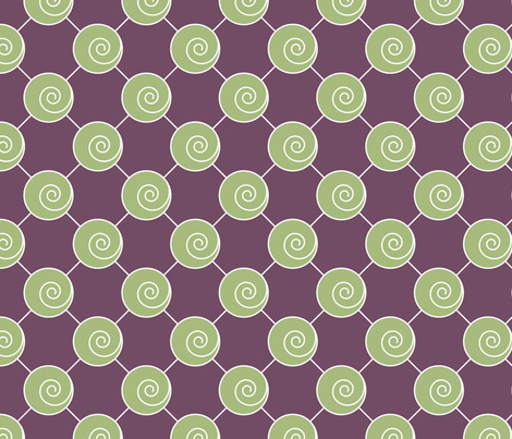 Green Swirls fabric by ruthevelyn on Spoonflower - custom fabric