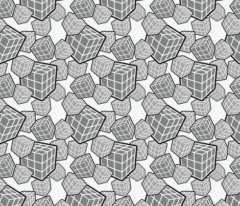 Puzzle-Cube fabric by studiofibonacci on Spoonflower - custom fabric