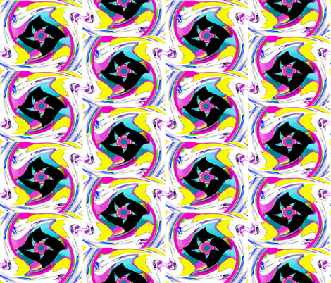 Stars on a windy Oklahoma Night fabric by anniedeb on Spoonflower - custom fabric