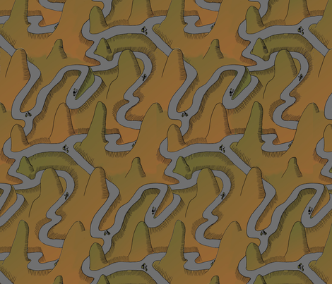 up and down in the mountains fabric by zandloopster on Spoonflower - custom fabric