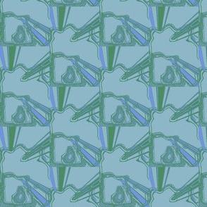 Eastern Dream Turquoise Green Blue