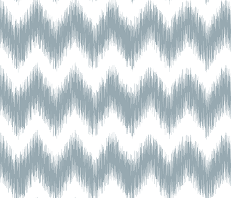 Distorted Chevron Meditative Blue fabric by liskadesign on Spoonflower - custom fabric