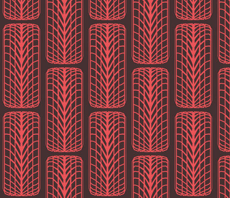 Tires. fabric by lesliecassidy on Spoonflower - custom fabric