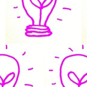 Pink Lightbulb Idea