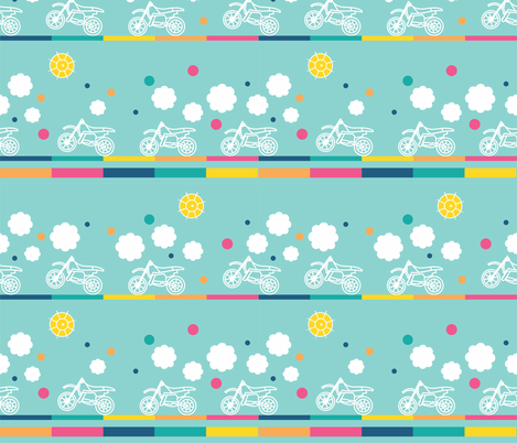 Cute Motorcycles fabric by policunha on Spoonflower - custom fabric