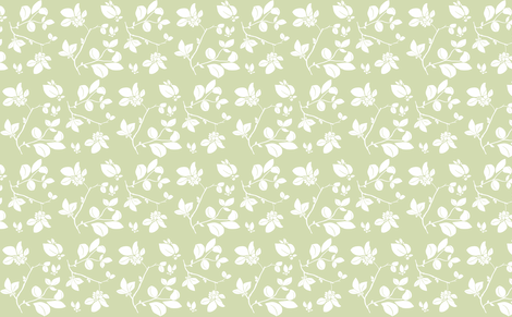 Blooming (green) fabric by biancagreen on Spoonflower - custom fabric