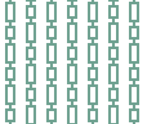 Anchor_chain_stripe_aqua fabric by dianecooley on Spoonflower - custom fabric