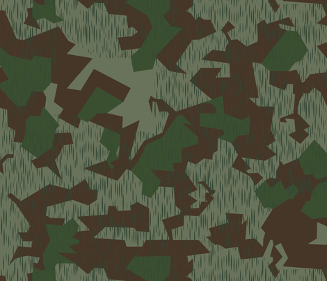 Luftwaffe Splinter B camo Remastered fabric by ricraynor on Spoonflower - custom fabric