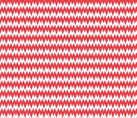 spikey_chevron_red fabric by pininkie on Spoonflower - custom fabric