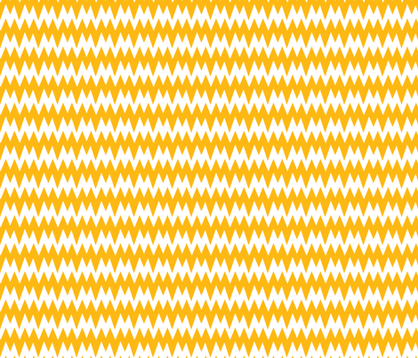 spikey_chevron_yellow fabric by pininkie on Spoonflower - custom fabric