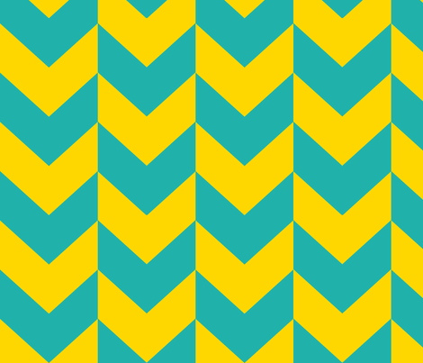 Yellow and teal arrows. fabric by pininkie on Spoonflower - custom fabric