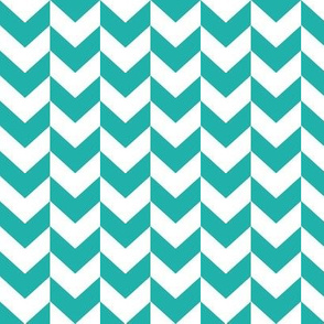 White and teal arrows.