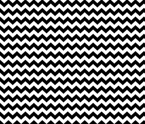 White & Black Chevron fabric by pininkie on Spoonflower - custom fabric
