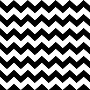 White & Black Chevron