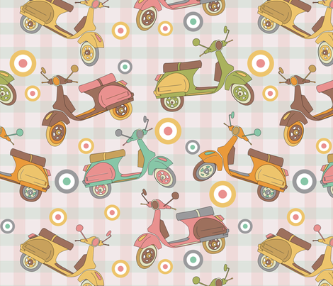 Mods Forever ! fabric by demigoutte on Spoonflower - custom fabric