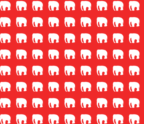 Elephants on red fabric by pininkie on Spoonflower - custom fabric
