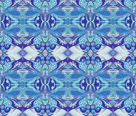 Butterfly_Blues fabric by yezarck on Spoonflower - custom fabric