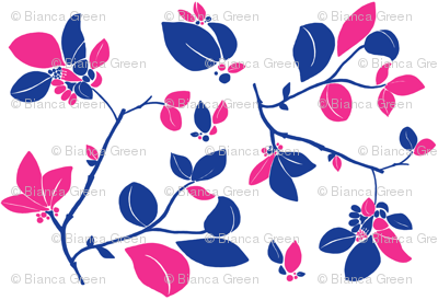 Blooming (blue + pink)