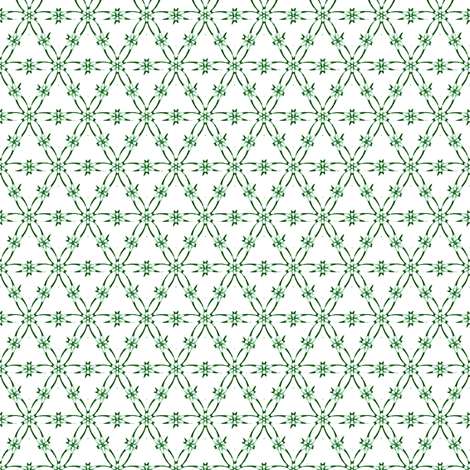 Star Net 1 - green fabric by fireflower on Spoonflower - custom fabric