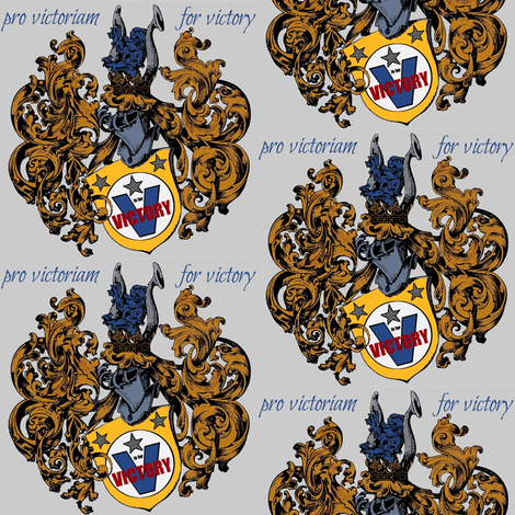 a crest pro victoriam fabric by paragonstudios on Spoonflower - custom fabric