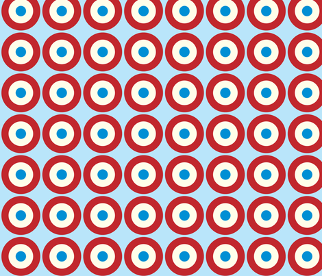 Mod Dots Red fabric by ebygomm on Spoonflower - custom fabric