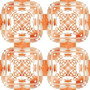 Geo Floral Orange Design, S