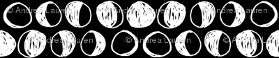 Moon Phases // black and white moon fabric