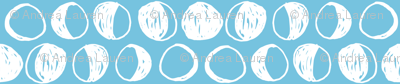 Moon Phases  // blue and white moon phase moon night fabric