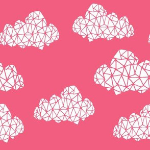 geo clouds // pink girly geo clouds for sweet little girls room or baby nursery