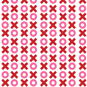 Mini Noughts and Crosses - Red and Pink