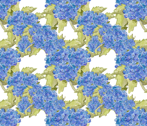 hydrangea fabric by aftermyart on Spoonflower - custom fabric