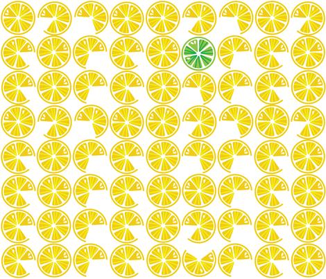 Lemon Lime fabric by kfay on Spoonflower - custom fabric