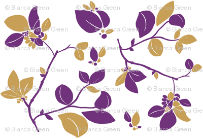 Blooming (purple + beige)